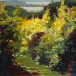 """August Vineyard"" 16""X16"" Oil, Bella Galleria"