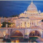 """Vatican Dawn"" Oil 24""X36""Commission"