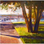 """Marina Shadows""Oil, 16""X16"", Blue Heron GallerySOLD"