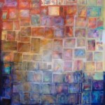 """Postcards from Somewhere""48""X36"" Mixed media, Art One GallerySOLD"