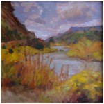 """Rio Grande Autumn""OIL 12"" X 12""SOLD"