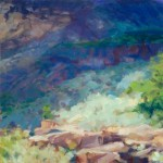 """Sedona Sun""Oil 16""X16""SOLD"