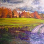 """Autumn Road""  Oil 24""x 30"" Blue Heron Gallery  SOLD"
