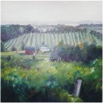 """Old Mission Wine Country""OIL 40"" x 40"", Bella GalleriaSOLD"