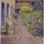"""Old Santa Fe Garden""OIL 11"" X 14""SOLD"