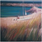 """Pondering the end of Summer""OIL 30"" x 30"", Bella GalleriaSOLD"