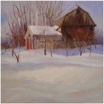 """Winter Barn""OIL 19"" x 19""Commission"
